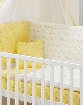 Sarı Sevimli Dostlar Tekstil Seti